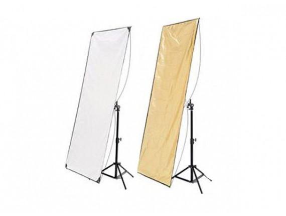 Отражатель HYUNDAE PHOTONICS White/Soft Gold 80x120см