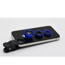 Объектив для телефона iLens Clip 3 in 1 blue