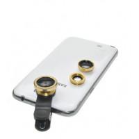Объектив для телефона iLens Clip 3 in 1 gold