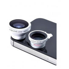 Объектив для телефона iLens Clip 3 in 1 silver