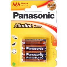 Батарейка Panasonic Alkaline Power AAA, 4 шт. (LR03REB/4BP)