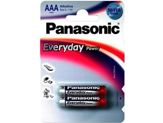 Батарейка Panasonic LR03 Alkaline Everyday Power AAA, 2шт. (LR03REE/2BR)