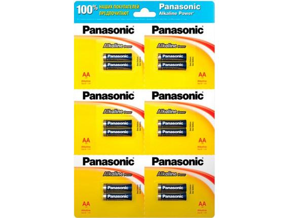 Батарейка Panasonic LR06 Alkaline Power AA, 1x12шт. (LR6REB/2B12R)