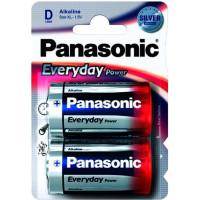 Батарейка Panasonic EVERYDAY POWER D BLI 2 ALKALINE (LR20REE/2BR)
