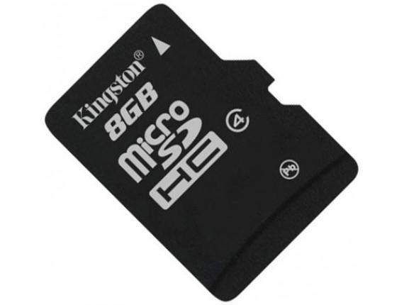Карта памяти Kingston microSDHC 8GB Class 4 без адаптера (SDC4/8GBSP)