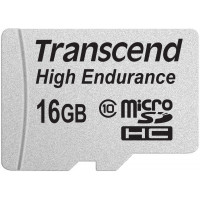 Карта памяти Transcend microSDHC 16 GB Class 10 High Endurance + SD адаптер (TS16GUSDHC10V)