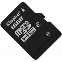 Карта памяти Kingston microSDHC 16GB Class 4 без адаптера (SDC4/16GBSP)