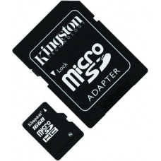 Карта памяти Kingston microSDHC 16GB Class 4 + SD адаптер (SDC4/16GB)