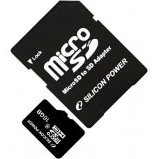 Карта памяти Silicon Power microSDHC 16GB Class 10 + SD адаптер (SP016GBSTH010V10SP)