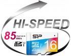 Карта памяти Silicon Power microSDHC 16GB Class 10 UHS-I Elite Color + SD адаптер (SP016GBSTHBU1V20SP)