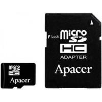 Карта памяти Apacer microSDHC 16GB Class 10 UHS-I + SD адаптер (AP16GMCSH10U1-R)