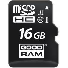 Карта памяти Goodram microSDHC 16GB Class 10 UHS-I + SD адаптер (M1AA-0160R11)