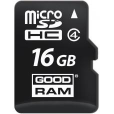 Карта памяти Goodram microSDHC 16GB Class 4 + SD адаптер (M40A-0160R11)