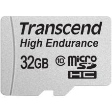 Карта памяти Transcend microSDHC 32 GB Class 10 High Endurance + SD адаптер (TS32GUSDHC10V)