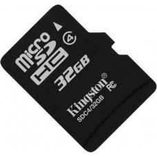 Карта памяти Kingston microSDHC 32GB Class 4 без адаптера (SDC4/32GBSP)