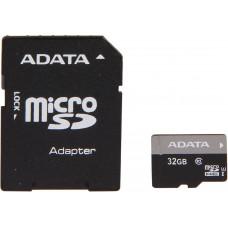 Карта памяти ADATA microSDHC 32GB Class 10 UHS-I Premier + SD адаптер (AUSDH32GUICL10-RA1)