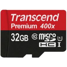 Карта памяти Transcend microSDHC 32GB Class 10 UHS-I + SD адаптер (TS32GUSDU1)