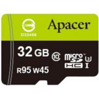 Карта памяти Apacer microSDHC 32GB Class 10 UHS-I +SD адаптер (AP32GMCSH10U3-R)