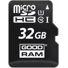 Карта памяти Goodram microSDHC 32GB Class 10 UHS-I + SD адаптер (M1AA-0320R11)