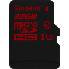 Карта памяти Kingston microSDHC 32GB Class 10 UHS-I U3 без адаптера (SDCA3/32GBSP)
