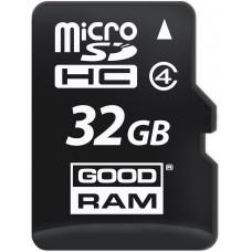 Карта памяти Goodram microSDHC 32GB Class 4 + SD адаптер (M40A-0320R11)