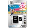 Карта памяти Silicon Power microSDHC 32GB Class 10 UHS-1 Elite + SD адаптер (SP032GBSTHBU1V10SP)