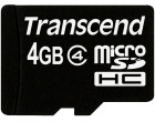 Карта памяти Transcend microSDHC 4GB Class 4 + SD адаптер (TS4GUSDHC4)