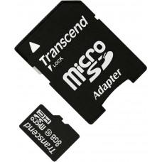 Карта памяти Transcend microSDHC 8GB Class 10 + SD адаптер (TS8GUSDHC10)