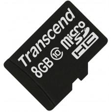 Карта памяти Transcend microSDHC 8GB Class 10 без адаптера (TS8GUSDC10)