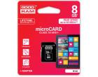 Карта памяти Goodram microSDHC 8GB Class 10 UHS-I + SD адаптер (M1AA-0080R11)