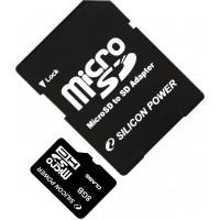 Карта памяти Silicon Power microSDHC 8GB Class 4 без адаптера (SP008GBSTH004V10)