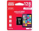 Карта памяти Goodram microSDXC 128GB Class 10 UHS-I + SD адаптер (M1AA-1280R11)
