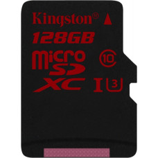 Карта памяти Kingston microSDXC 128GB Class 10 UHS-I U3 без адаптера (SDCA3/128GBSP)
