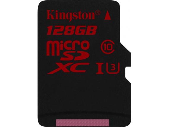 Карта памяти Kingston microSDXC 128GB Class 10 UHS-I U3 без адаптера (SDCA3/128GBSP)