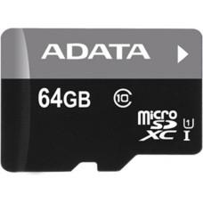 Карта памяти ADATA microSDHC 64GB Class 10 UHS-I Premier + SD адаптер (AUSDX64GUICL10-RA1)