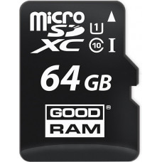 Карта памяти Goodram microSDXC 64GB Class 10 UHS-I + SD адаптер (M1AA-0640R11)