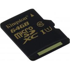 Карта памяти Kingston microSDXC 64GB Class 10 UHS-I без адаптера (SDCA10/64GBSP)
