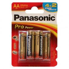 Батарейка Panasonic PRO POWER AA BLI 6 (4+2) ALKALINE (LR6XEG/6B2F)