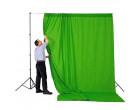 Фон студийный тканевый Visico PBM-3030 green Chroma Key 3х3м