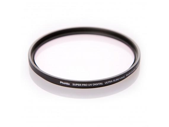Светофильтр Phottix Super PRO UV Digital Ultra Slim (1mm) Multi-Coated 62mm