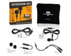 Петличный микрофон Powerdewise Dual Lavalier Microphone Interview Set