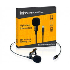 Петличный микрофон Powerdewise Lavalier Microphone with Lightning for iPhone