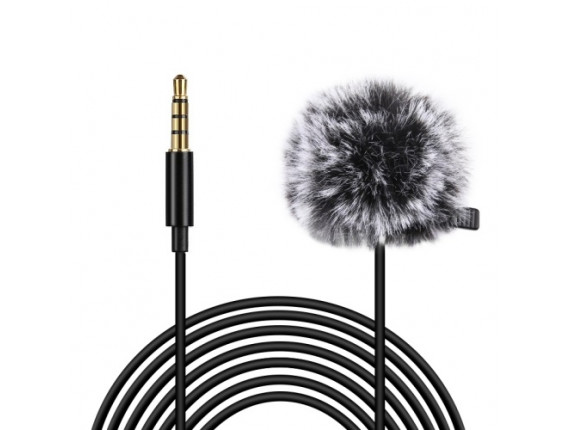 Микрофон петличка Puluz PU3046 6м (3.5mm)