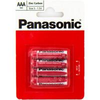 Батарейка Panasonic Red Zink AAA, 4шт. (R03REL/4BP)