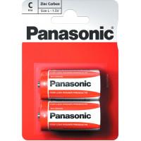 Батарейка Panasonic RED ZINK R14 BLI 2 ZINK-CARBON (R14REL/2BP)