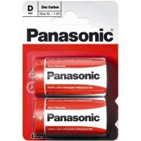 Батарейка Panasonic RED ZINK D R20 BLI 2 ZINK-CARBON (R20REL/2BP)