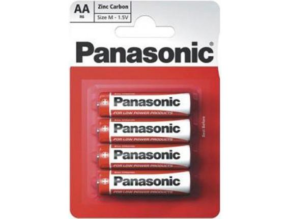 Батарейка Panasonic Red Zink AA, 4шт. (R6REL/4BP)