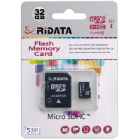 Карта памяти RiData microSDHC 32GB Class 10 UHS-I + SD адаптер (FF962262)
