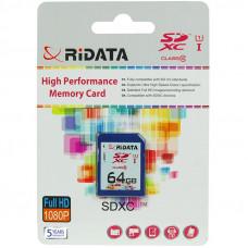 Карта памяти RiData SDXC 64GB Class 10 UHS-I (FF960213)