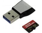Карта памяти SanDisk microSDXC 64GB UHS-II U3 Class 10 + USB 3.0 reader (SDSQXPJ-064G-GN6M3)